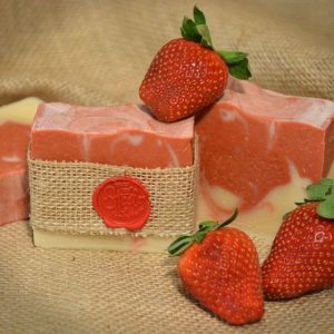 Image Alt Text: Goat milk soap Best goat milk soap Strawberry soap