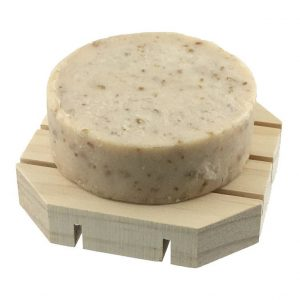 oat milk and natural honey soap