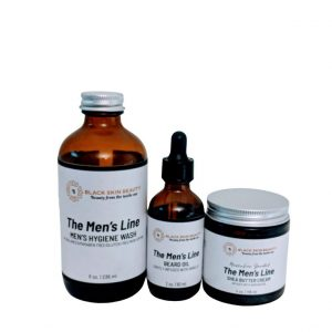 black men skin care set for gift